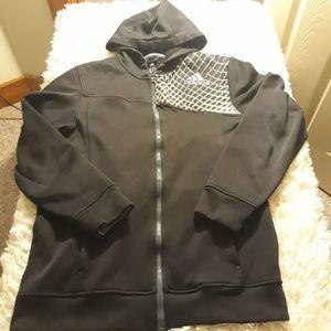 Adidas hoodie men XL zip up black